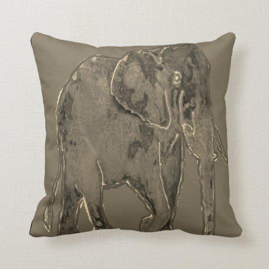 Throw pillow with an animal design