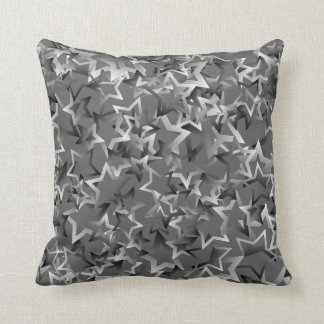 "Throw Pillow with ""Gradient Stars"" Design"