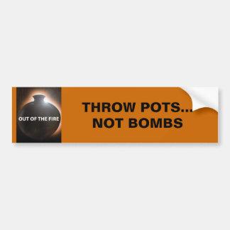 Throw Pots (Bumper Sticker) Car Bumper Sticker