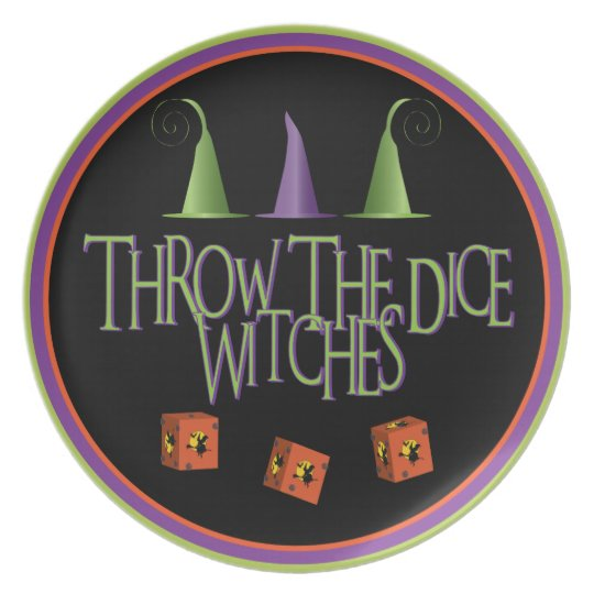 Throw The Dice Witches Plate