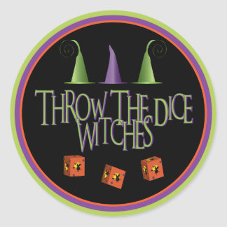 Throw The Dice WItches Stickers