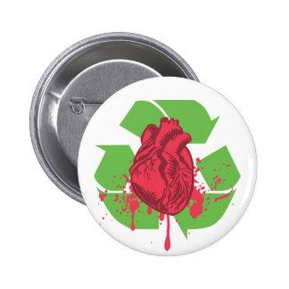 Throw your Heart 6 Cm Round Badge