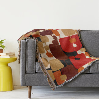 Throwback 1960s Mod Print Throw Blanket
