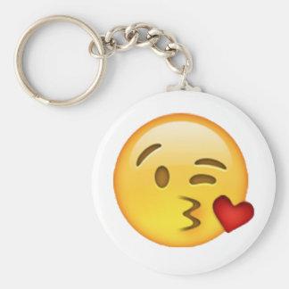 Throwing Kiss - Emoji Key Ring