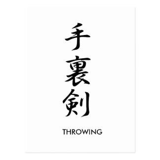 Throwing Knives - Shuriken Postcard