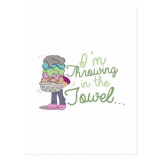 Throwing Towel Postcard