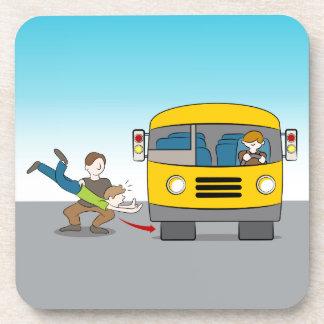 Thrown Under Bus Drink Coaster