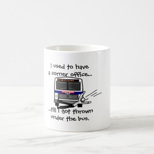 Thrown under the bus coffee mug
