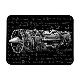 Thrust matters! rectangular photo magnet