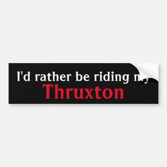 thruxton bumper sticker