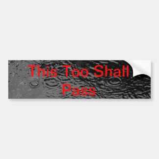Thtoo shall pass bumper sticker