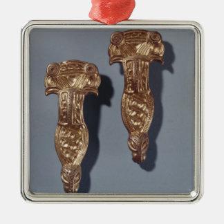Thueringer Fibulas with Birds Heads, Stoessen Christmas Ornament