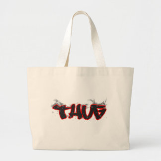 thug graffiti design tote bags