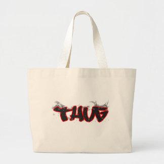 thug graffiti design jumbo tote bag