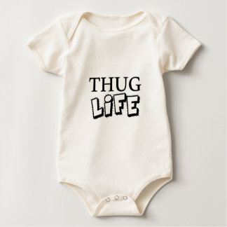 THUG LIFE ATTITUDE MOTTO GANGS GANGSTER TOUGH HOOD BABY BODYSUIT