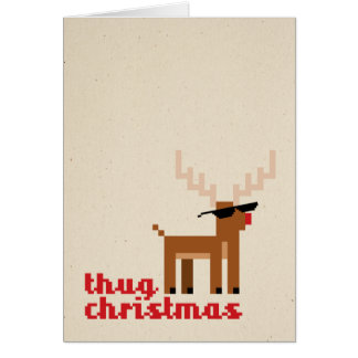 Thug Life Deer Christmas Xmas Greeting card