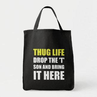 Thug Life Grocery Tote Bag