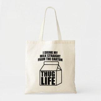 Thug Life Milk Carton Budget Tote Bag