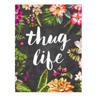 Thug life postcard