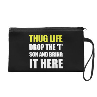 Thug Life Wristlet Purses