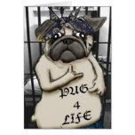 Thug Pug Greeting Card