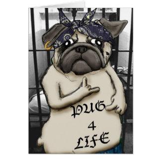 Thug Pug Greeting Cards