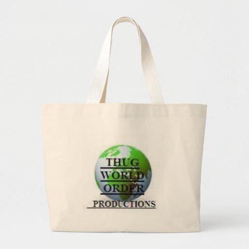 THUG WORLD ORDER PRODUCTIONS  LOGO-4 CANVAS BAG