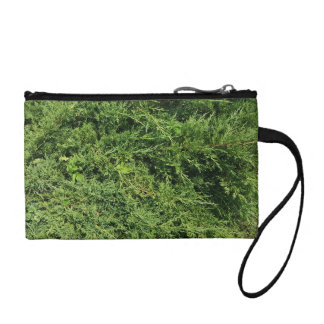 Thuja tree photo background coin purse