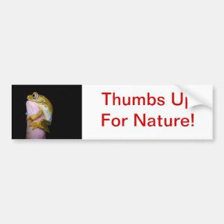 Thumb Hug Bumper Sticker