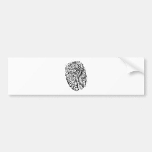 Thumb Print Bumper Sticker