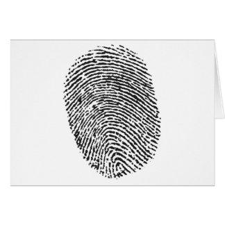 Thumb Print Greeting Card