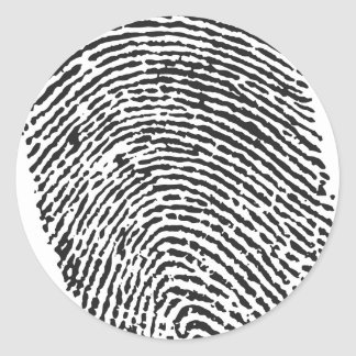Thumb Print Round Sticker