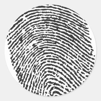 Thumb Print Round Sticker