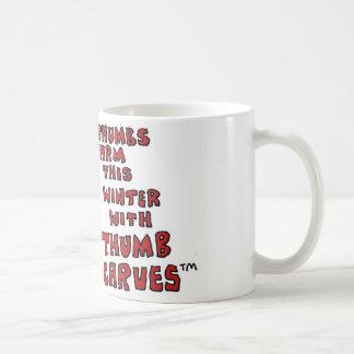 Thumb Scarves by Sam Backhouse. Coffee Mug