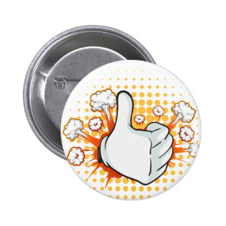 Thumb up 6 cm round badge