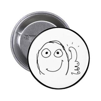 Thumb up Comic Meme. 6 Cm Round Badge