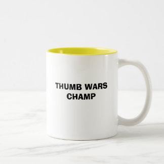 THUMB WARS CHAMP MUGS
