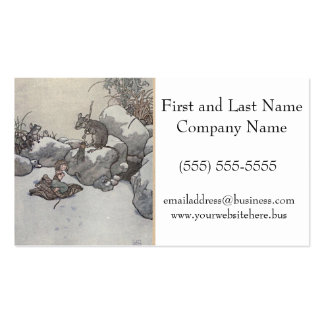 Thumbelina and Mouse Princess Winter Fairy Tales Pack Of Standard Business Cards