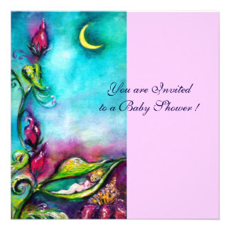 THUMBELINA BABY SHOWER PERSONALIZED ANNOUNCEMENTS