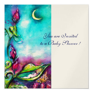 THUMBELINA ,blue pink red white gold metallic Personalized Announcement