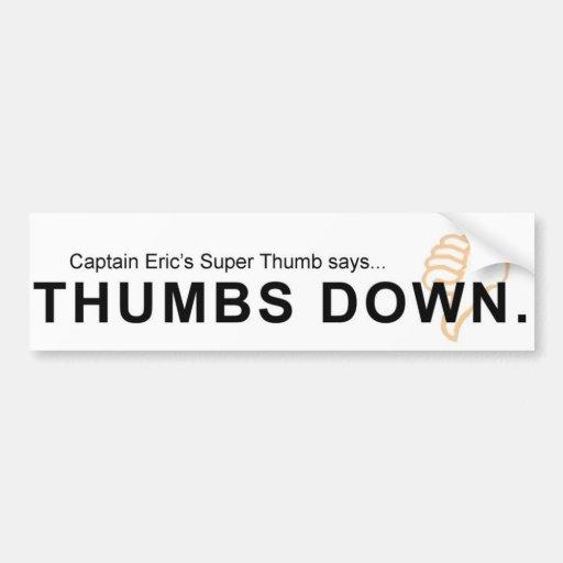 Thumbs Down Bumper Sticker