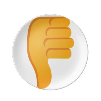 Thumbs Down Emoji Plate