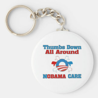 Thumbs Down NObama Care Keychains
