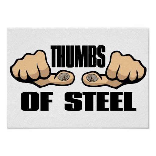 Thumbs of Steel Print