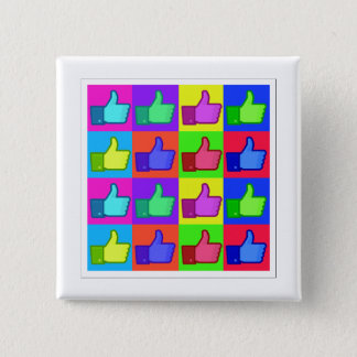 Thumbs Up! 15 Cm Square Badge