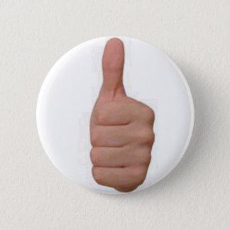Thumbs up! 6 cm round badge