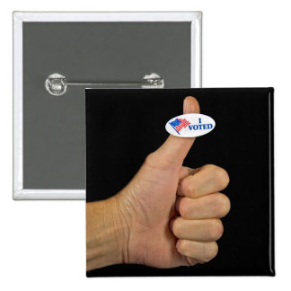 Thumbs Up 15 Cm Square Badge
