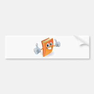 Thumbs up book cartoon character bumper stickers