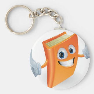 Thumbs up book cartoon character key chains