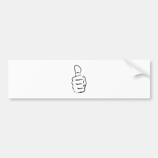 Thumbs Up Bumper Stickers